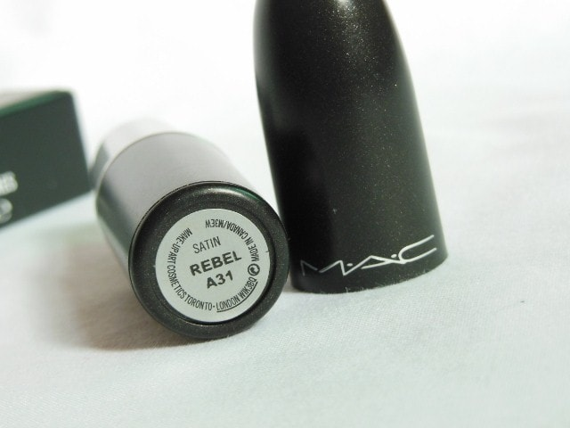 MAC Satin Rebel Lipstick Review, Swatches, LOTD - Indian Beauty ...