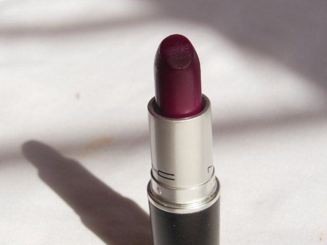 MAC Satin finish Rebel Lipstick Review