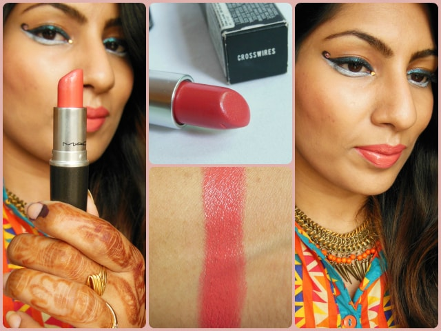 MAC CremeSheen  Lipstick Crosswires FOTD