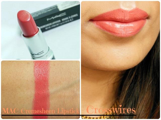 MAC CremeSheen  Lipstick Crosswires Look