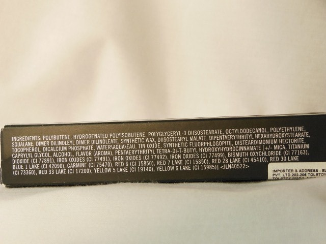 MAC Lip Polish Kittenish Ingredients
