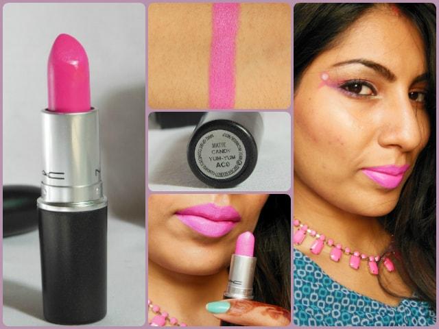 MAC Matte Lipstick Candy Yum Yum FOTD