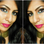 Makeup Look of the Day - Pop of blue and Fuchsia Lips