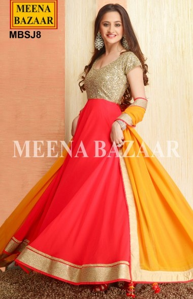 Meena Bazaar Anarkali Suit