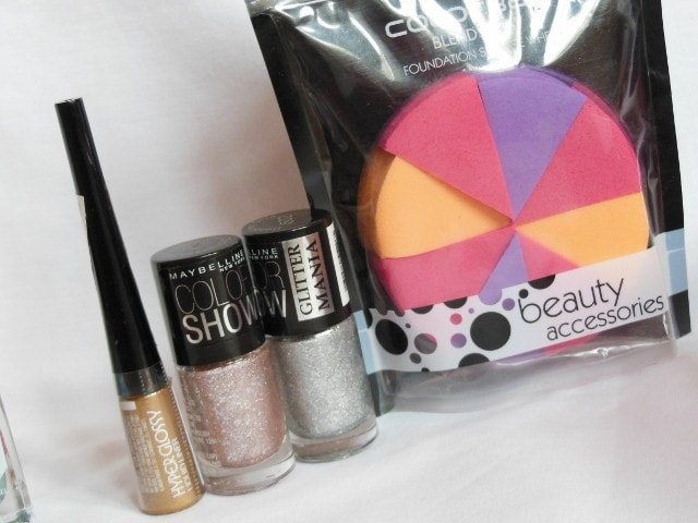 Maybelline Makeup - Hyperglossy Liner, GlitterMania Nail Polish, Colorbar Wedges