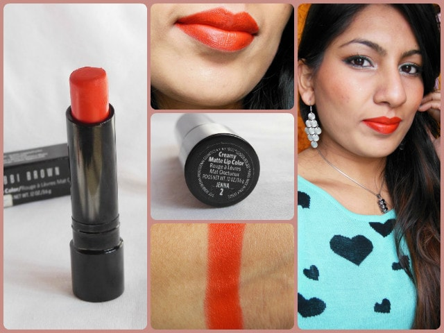 Bobbi Brown Creamy Matte Jenna Lipstick Look