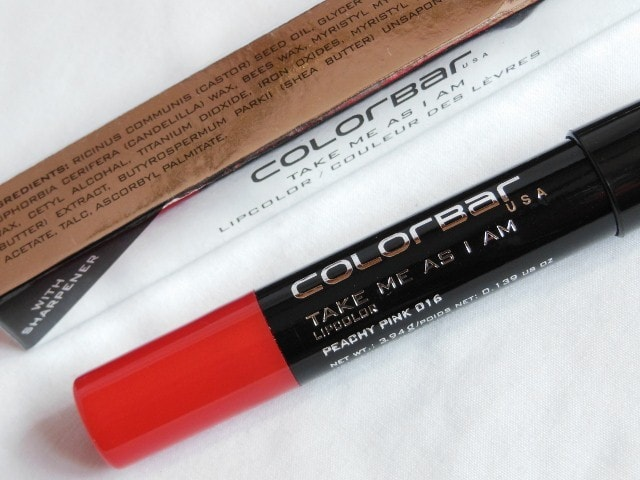 Colorbar Take Me As I Am Lip color Peachy Pink