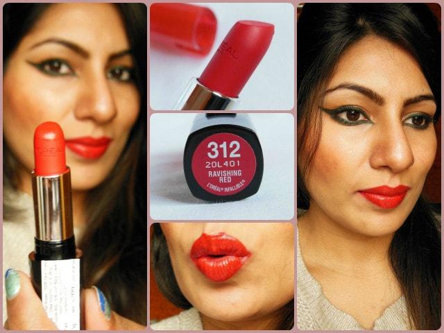 L'Oreal Infallible Ravishing Red Lipstick Look