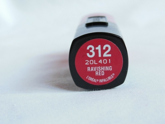 L'Oreal Paris Infallible Lipstick Ravishing Red 312