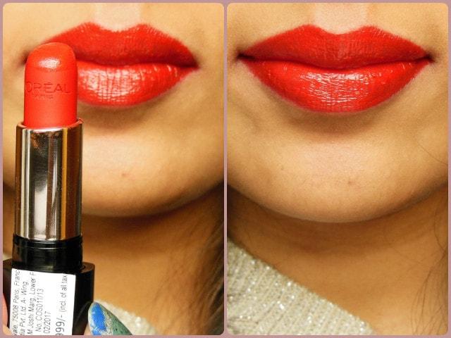 L'Oreal Paris Infallible Lipstick Ravishing Red Lip Swatch