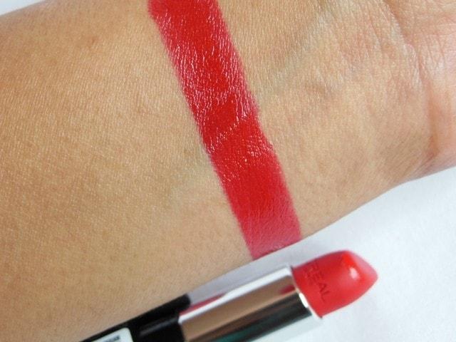 L'Oreal Paris Infallible Lipstick Ravishing Red Swatch