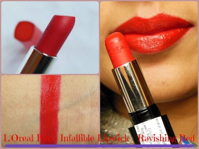 L'Oreal Paris Infallible Ravishing Red Lipstick LOTD