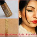 Maybelline HyperGlossy Gold Liquid Eye Liner Look