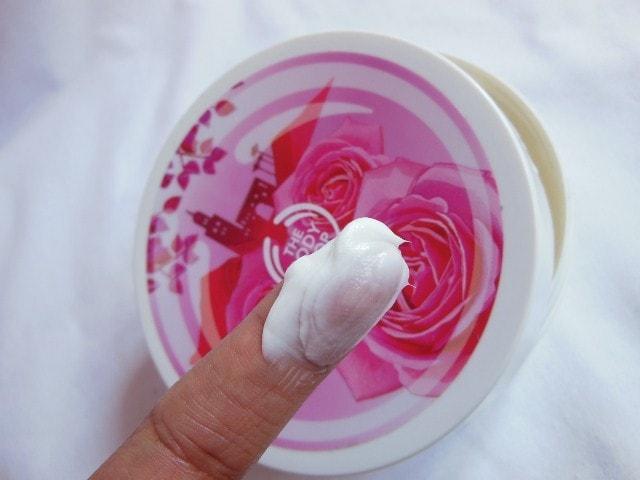 The Body Shop Atlas Mountain Rose Body Butter Swatch