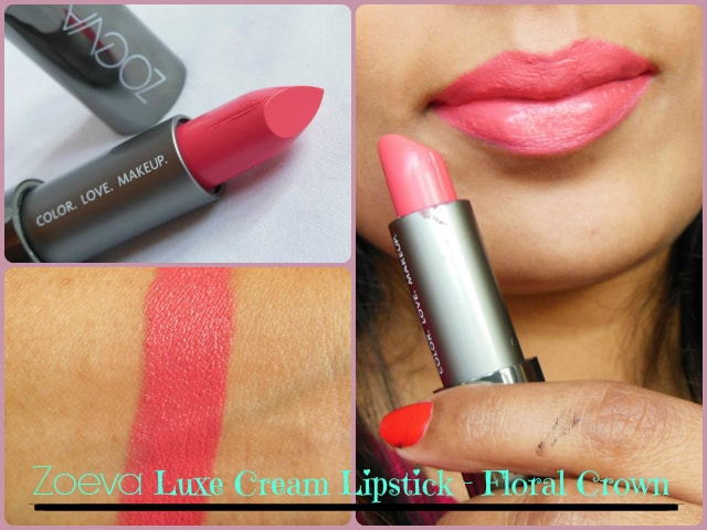 Zoeva Luxe Cream Floral Crown Lipstick LOTD