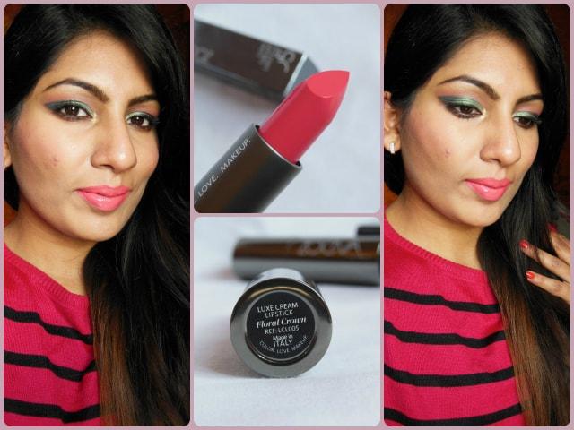 Zoeva Luxe Cream Floral Crown Lipstick Look