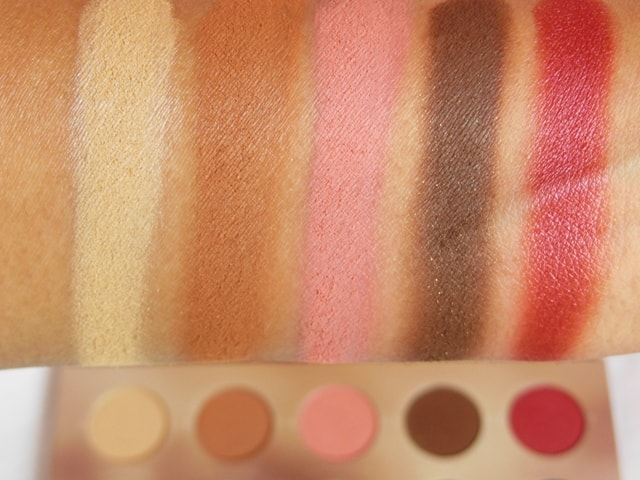 Zoeva Rodeo Belle Eye Shadow Palette Row 1 Swatch