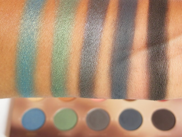 Zoeva Rodeo Belle Eye Shadow Palette Row 2 Swatch 4