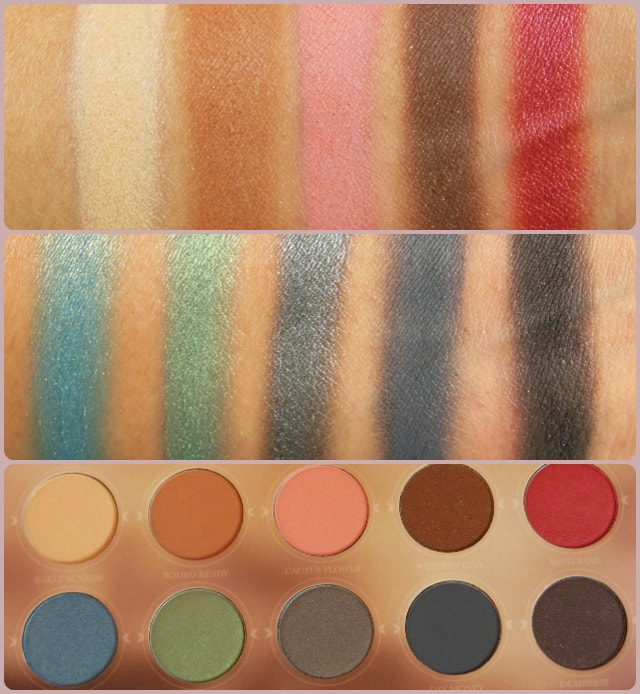 Zoeva Rodeo Belle Eye Shadow Palette Swatch Details