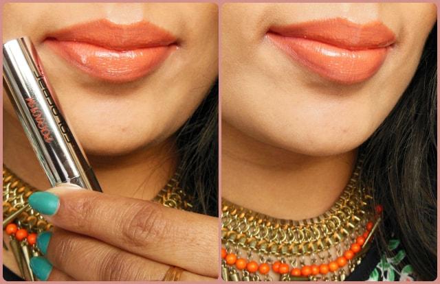 Colorbar Sheer Creme Lust Lipstick Orange Bliss LOTD