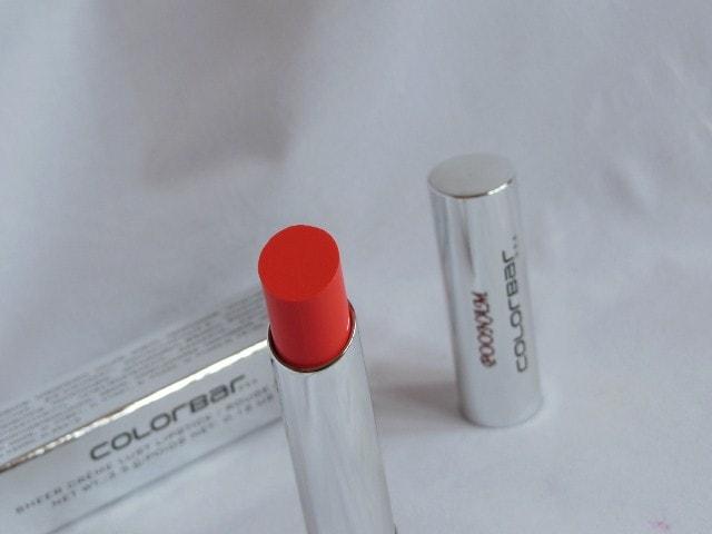 Colorbar Sheer Creme Lust Lipstick Orange Bliss Review