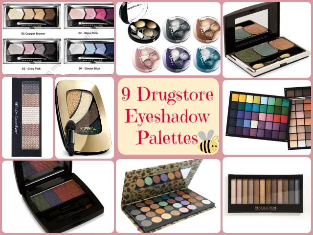 Drugstore Eye Shadow Palettes