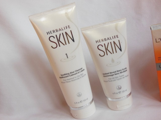 Herbalife Skin Soothing Aloe Cleanser and Instant Reveal Berry Scrub
