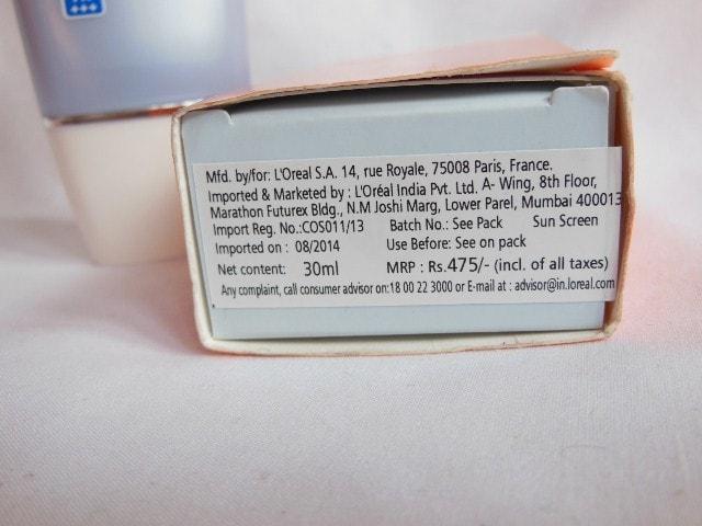 L'Oreal Paris Aqua  Essence UV Perfect SPF 30 Sunscreen Price