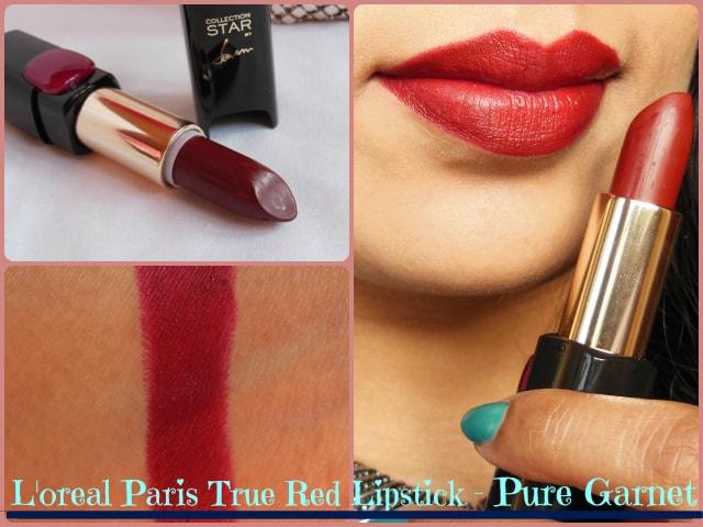 L'Oreal Paris Color Riche Star Pure Reds Lipstick Pure Garnet Look