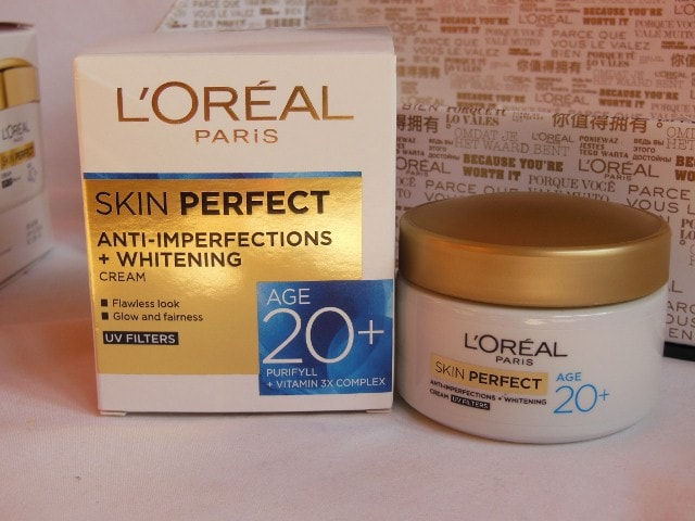 L'Oreal Skin Perfect Skin care Range for 20+