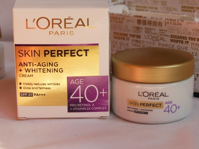 L'Oreal Skin Perfect Skin care Range for 40 +