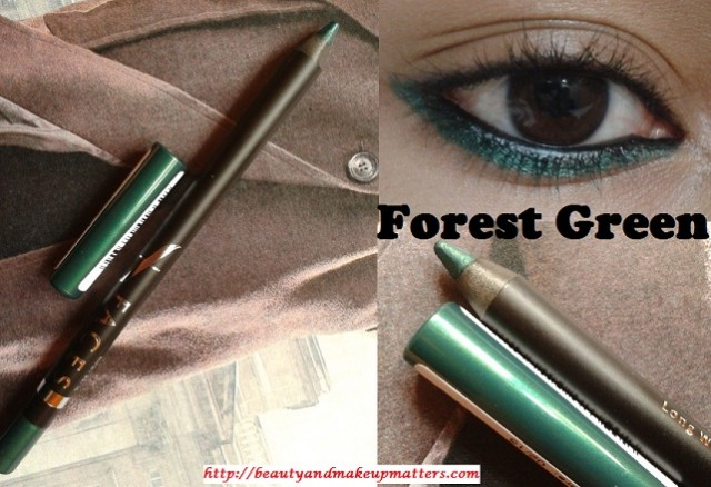 My Daily Office Makeup Routine - Faces Long Wear Eye Pencil Forest Green