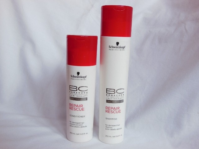 Schwarzkopf BonaCure Repair Rescue Deep Nourishing Shampoo and Conditioner