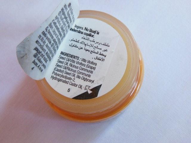 The Body Shop HoneyMania Lip Bam Ingredients