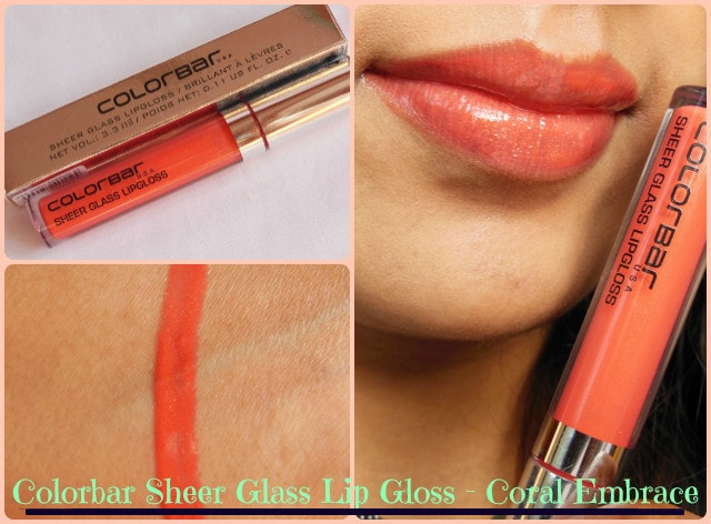 Colorbar Sheer Glass Lip Gloss Coral Embrace Look