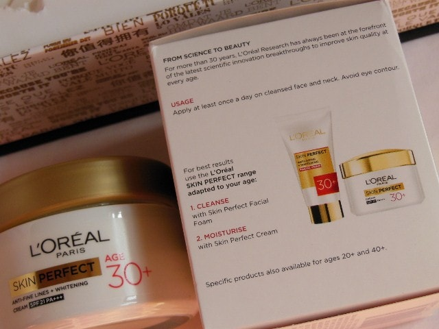 L'Oreal Paris Skin Perfect Anti Fine Lines Wrinkle and whitening cream SPF 21 Review