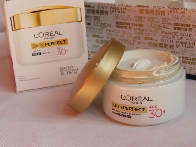 L'Oreal Skin Perfect Anti Fine Lines Wrinkle and whitening cream with SPF