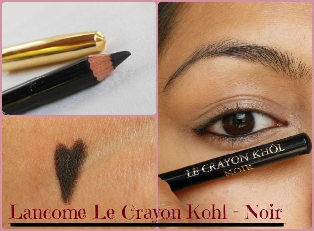 lancome le crayon kohl noir review swatch eotd beauty fashion lifestyle blog beauty. Black Bedroom Furniture Sets. Home Design Ideas