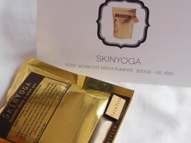 My Envy Box February 2015 - SkinYoga Post Workout Neem Purifier