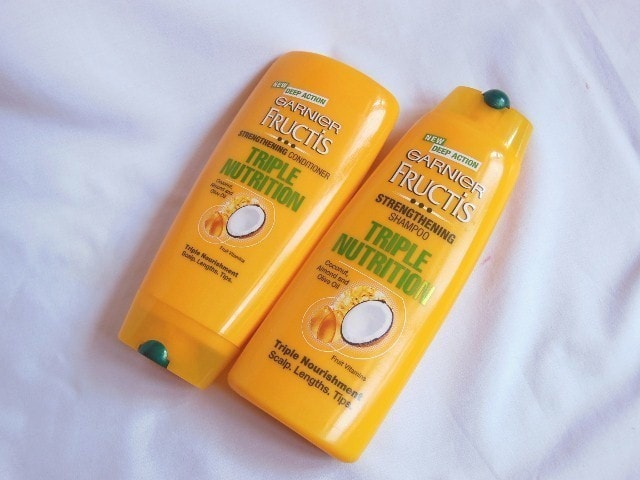 My Hair Story and Garnier Fructis Strengthening Shampoo and Conditioner