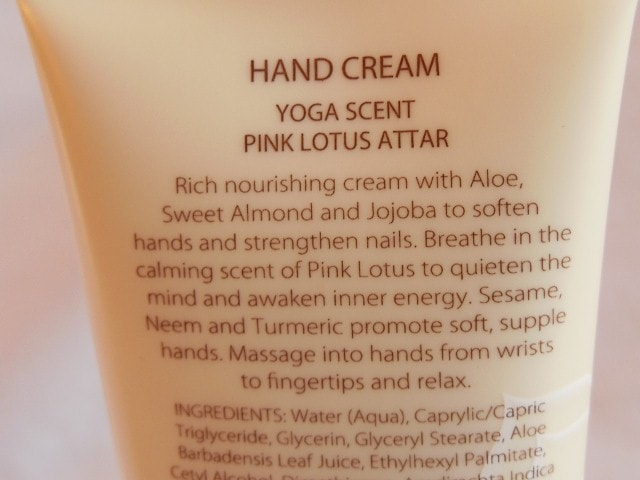 Natio Meditate Hand Cream Pink Lotus Claims