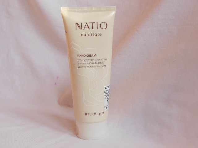 Natio Meditate Pink Lotus Hand Cream Review