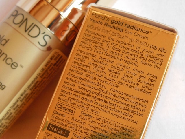 Ponds Gold Radiance Youth Reviving Eye Cream Claims