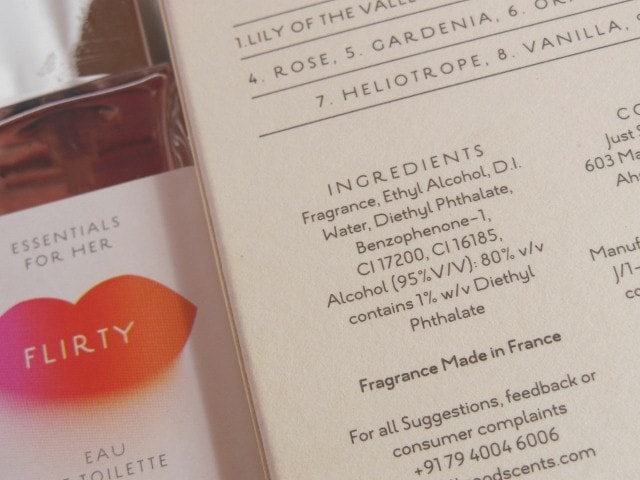All Good Scents Flirty EDT Ingredients