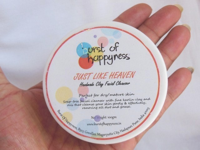 Burst Of Happyness Just Like Heaven Facial Cleanser Packaging