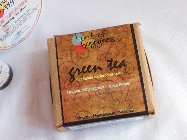 Burst of Happyness Green Tea Soap