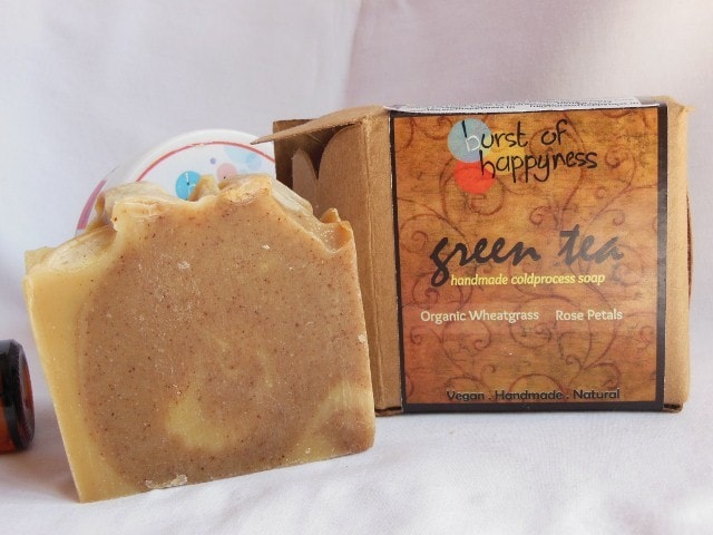 Burst of Happyness Handmade soap - Green Tea