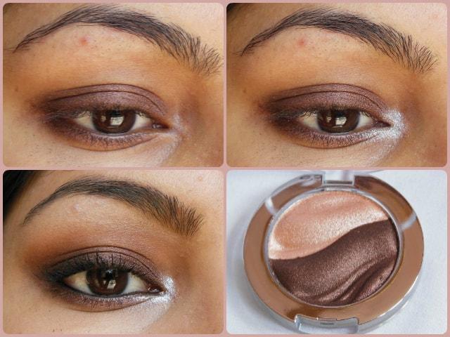 Essence 3D Eye Shadow Irresistble Choco CupCake EOTD