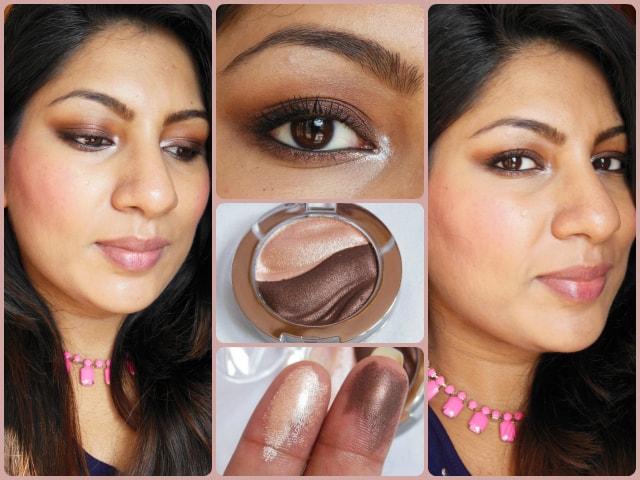 Essence 3D Eye Shadow Irresistble Choco CupCake FOTD