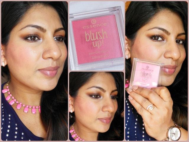 Essence Blush Up Pink Flow Powder Blush Look 2